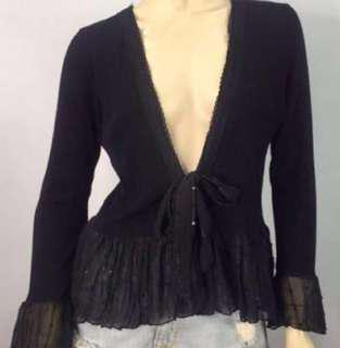 Black laced blazer