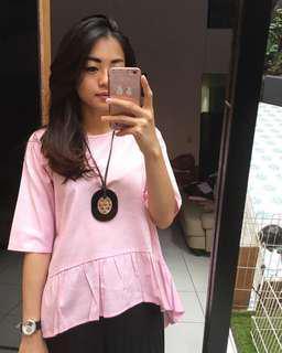 Pink 7/8 Top