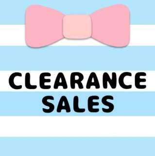 CLEARANCE! SALES!