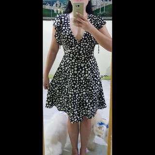 Miss Selfridge petite wrap-up chiffon dress