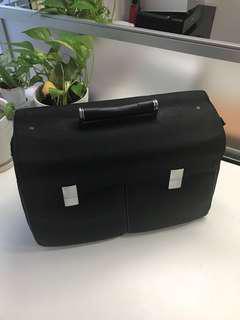 Porche black canvas briefcase