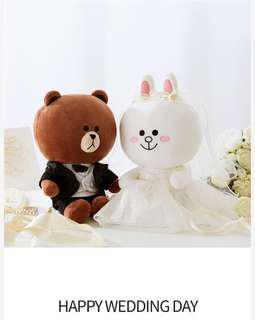 LINE FRIENDS Brown and Cony Wedding 結婚公仔