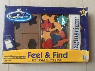 Imaginarium Wooden Feel & Find with Mystery Bag & Matching Shapes and Bases