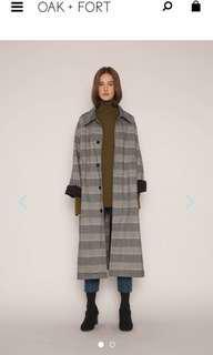 OAK+FORT gingham coat oversized