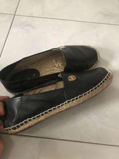 Michael Kors Black Leather EspadrilleSize 5