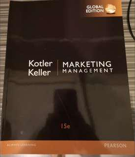 Marketing Management by kotler,philip and keller 15 edition