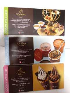 Godiva 優惠券, 1 set 3張不同