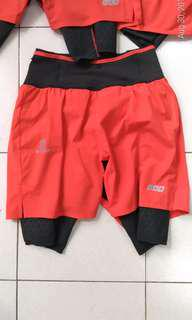 Salomon shorts with built in cycling