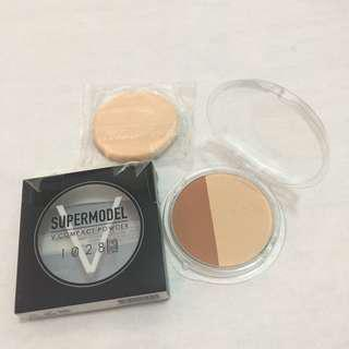1028 Supermodel V Compact Powder 8.0g (01-Light Beige) - NEW #under90