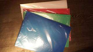 DATA BANK E310-18 A4 File×12(藍,綠,紅, 透明)