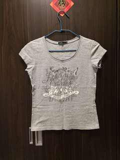 """🚚 """"HANG TEN 灰色短袖T恤""""女版M"""