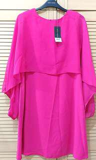 Dorothy Perkins Pink Chiffon Overlay Dress