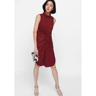 🚚 Love Bonito Olynne Ruched Shirt Dress