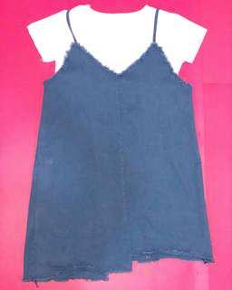 BRAND NEW denim dress with shirt
