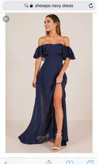 Showpo formal dress navy