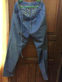 Celana panjang kain serat jeans
