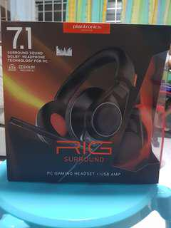 🚚 Plantronics Gaming Headset 7.1 RIG surround