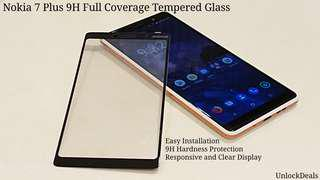 🚚 Nokia 7 Plus 9H Full Coverage Tempered Glass