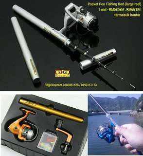 69b7457e541 Pocket Pen Fishing Rod (large reel with accessories)