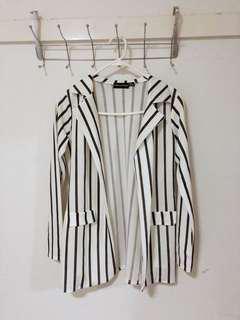 Stripe blazer black and white