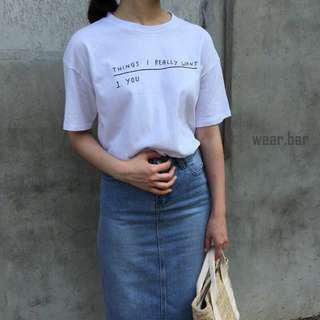 🚚 字母上衣 字母T 下水一次 #九月女裝半價