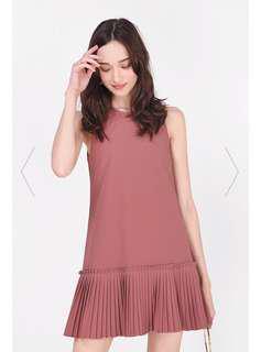 Fayth Kira Pleated Dropwaist Dress