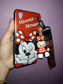 Casing Oppo A37 (Neo 9) Minnie Mouse + Gantungan