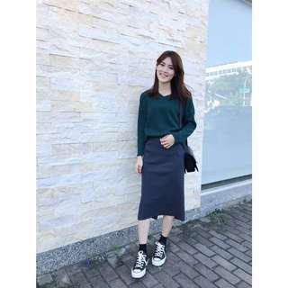 全新轉售v領針織上衣 綠 #九月女裝半價