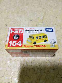 全新 Takara Tomica Tomy 154 Snoopy 車仔 Dream Tomica 史努比 玩具車 school bus