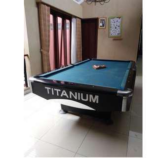 Meja billiard titanium 9 feet