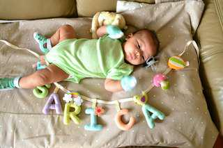 Handmade Personalized Baby Name Banner