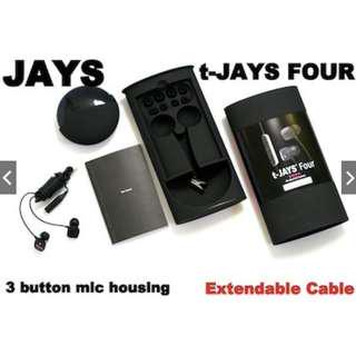 *FREE REGISTERED DELIVERY*Jays t-JAYS Four In-Ear Headphones for iPhone iPad
