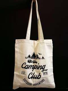(自家設計)米白色Camping環保袋