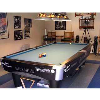 Meja billiard brunswick metro 9 feet