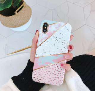 [Ready Stock] iPhone 7/8plus Geometric Mosaic Phone Casing