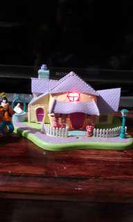 Vintage Polly Pocket Disney House free three Disney Figures