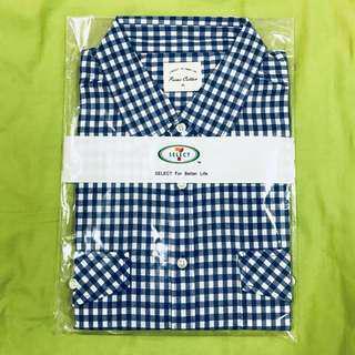 🚚 《台中》7 select 男生短袖格子襯衫 7-11