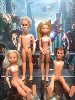 Rare Vintage 1974 Sunshine Family dolls