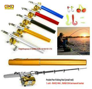 2b70f5c2612 Pocket Pen Fishing Rod (small reel with accessories)