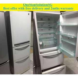 Toshiba (365L), 3doors refrigerator / fridge ($300 + FREE delivery + 2mths warranty)