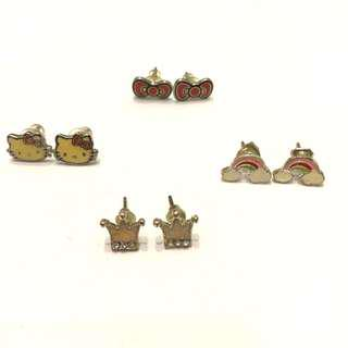 BNWOT: Authentic Hello Kitty Stud Earrings