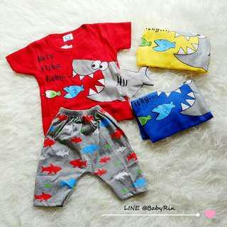 Baju Anak Lucu 3 Fishes