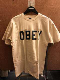 Obey Tee - M size -米白