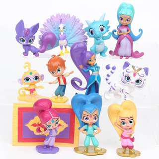 New shine and shimmer princess cake topper and decorations figurines birthday cake toy