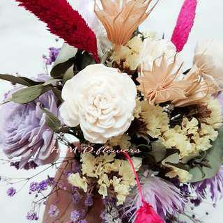 手拿花 捧花 花束 婚禮 乾燥花 攝影道具