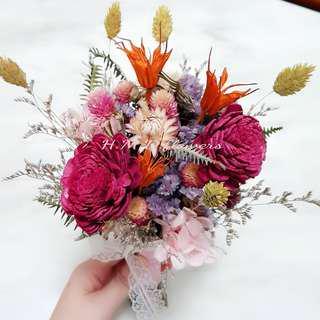 捧花 手拿花 花束 乾燥花 婚禮 攝影道具