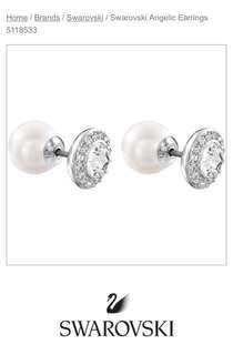 Swarovski Angelic Pierced Earrings Item#5118533 99% NEW