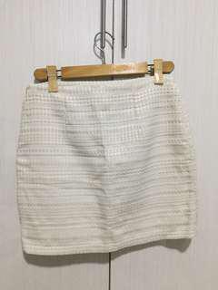 H&M White Skirt