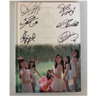*RARE*GFRIEND OFFICIAL 2ND MINI ALBUM FLOWER BUD ALL MEMBER SIGNED ALBUM+SINB PC