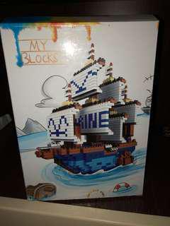 One Piece Marine battleship blocks